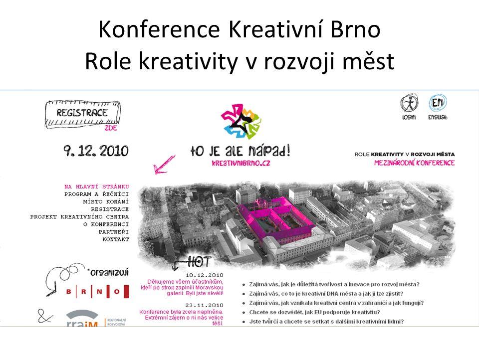 Konference Kreativní Brno Role kreativity v rozvoji měst