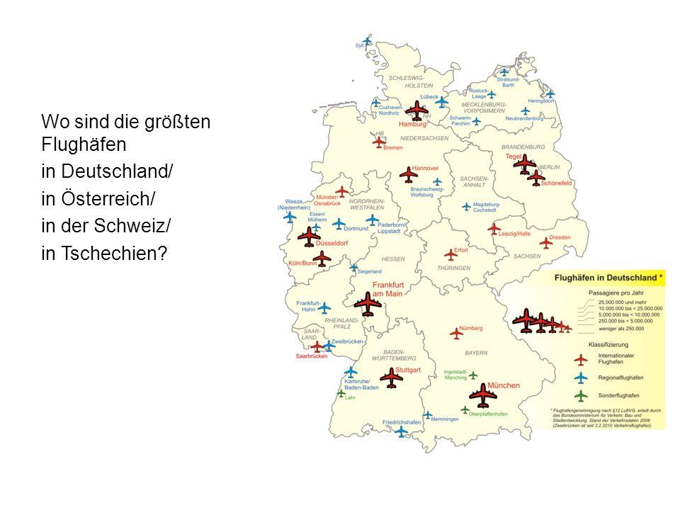 Wo sind die größten Flughäfen