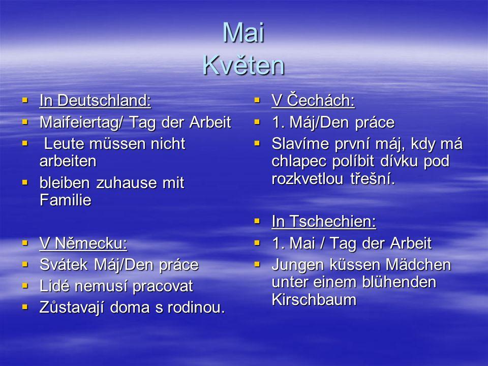 Mai Květen In Deutschland: Maifeiertag/ Tag der Arbeit