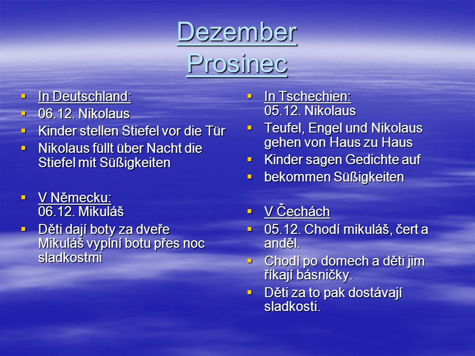 Dezember Prosinec In Deutschland: 06.12. Nikolaus
