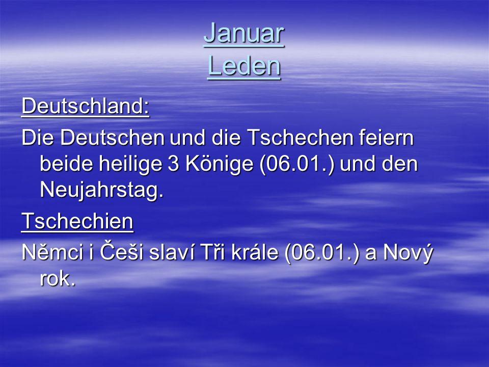 Januar Leden Deutschland: