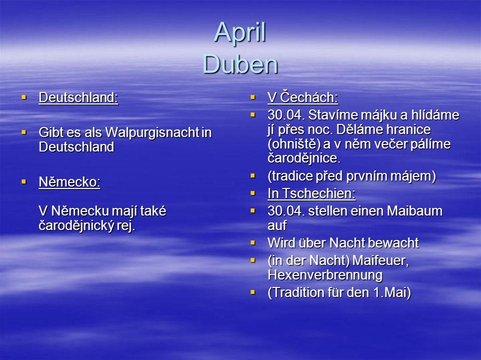 April Duben Deutschland: Gibt es als Walpurgisnacht in Deutschland