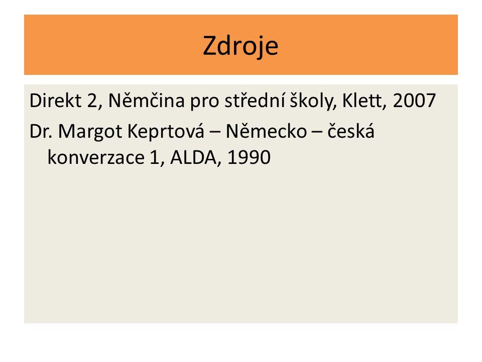 Zdroje Direkt 2, Němčina pro střední školy, Klett, 2007 Dr.