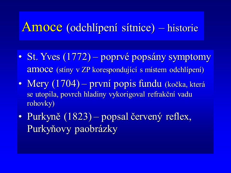Amoce (odchlípení sítnice) – historie