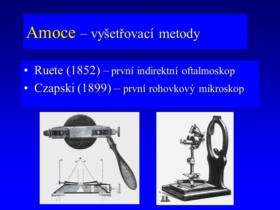Amoce – vyšetřovací metody