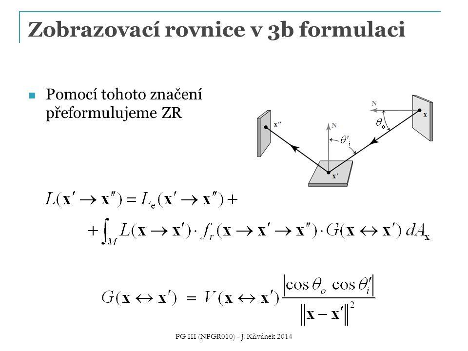 Zobrazovací rovnice v 3b formulaci