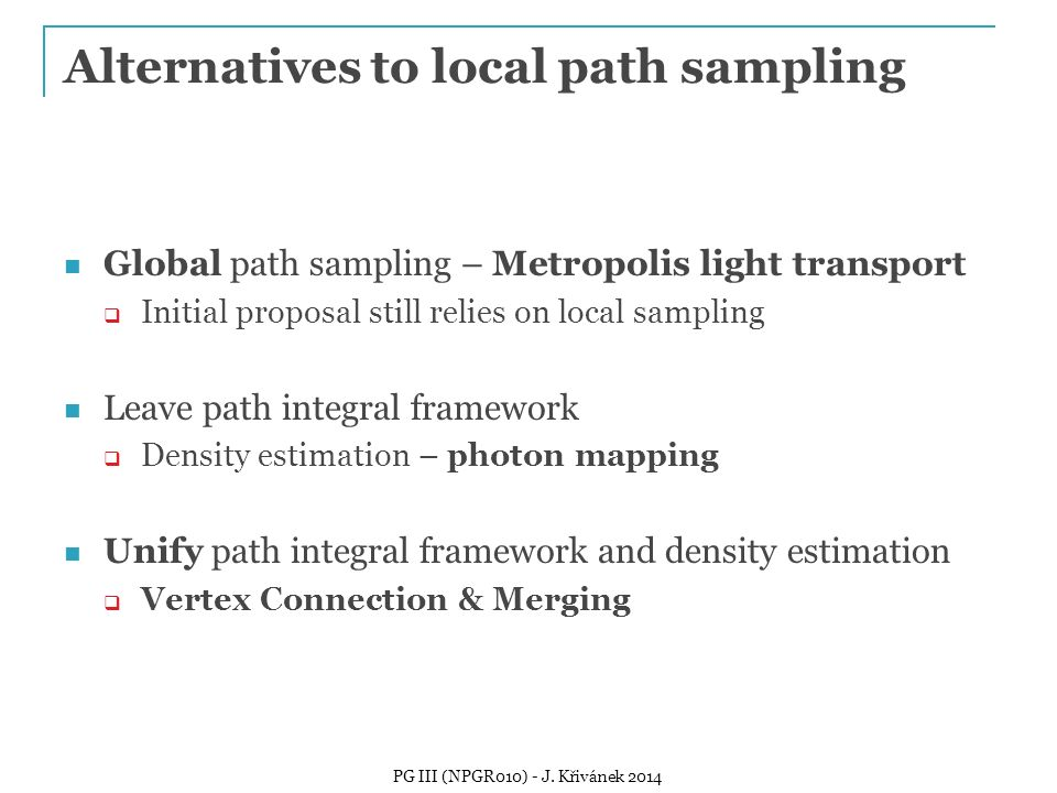 Alternatives to local path sampling