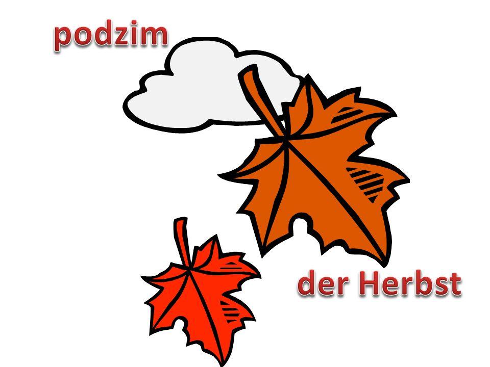 podzim der Herbst