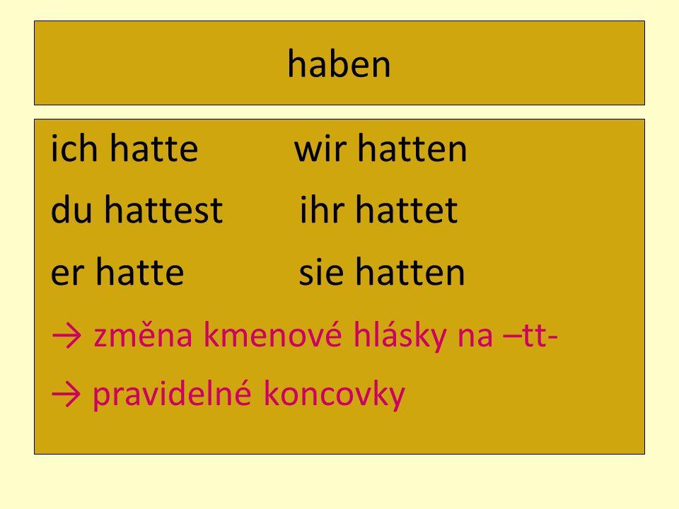 → změna kmenové hlásky na –tt-