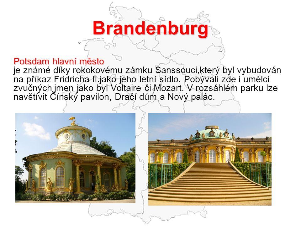 Brandenburg Potsdam hlavní město