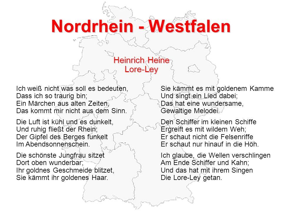Nordrhein - Westfalen Heinrich Heine Lore-Ley