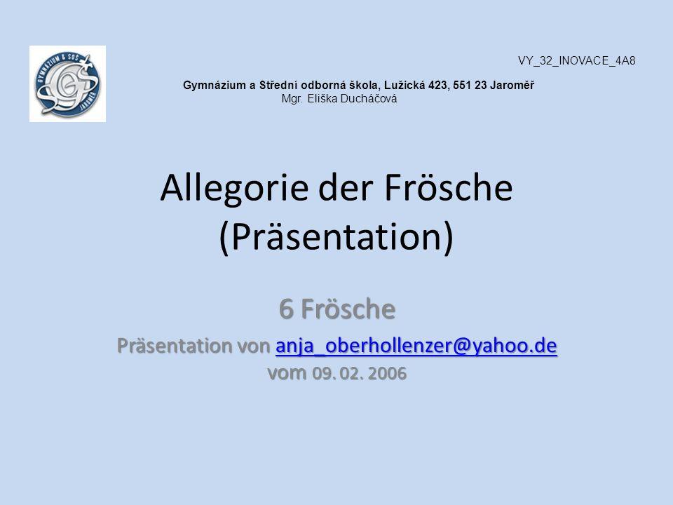 Allegorie der Frösche (Präsentation)