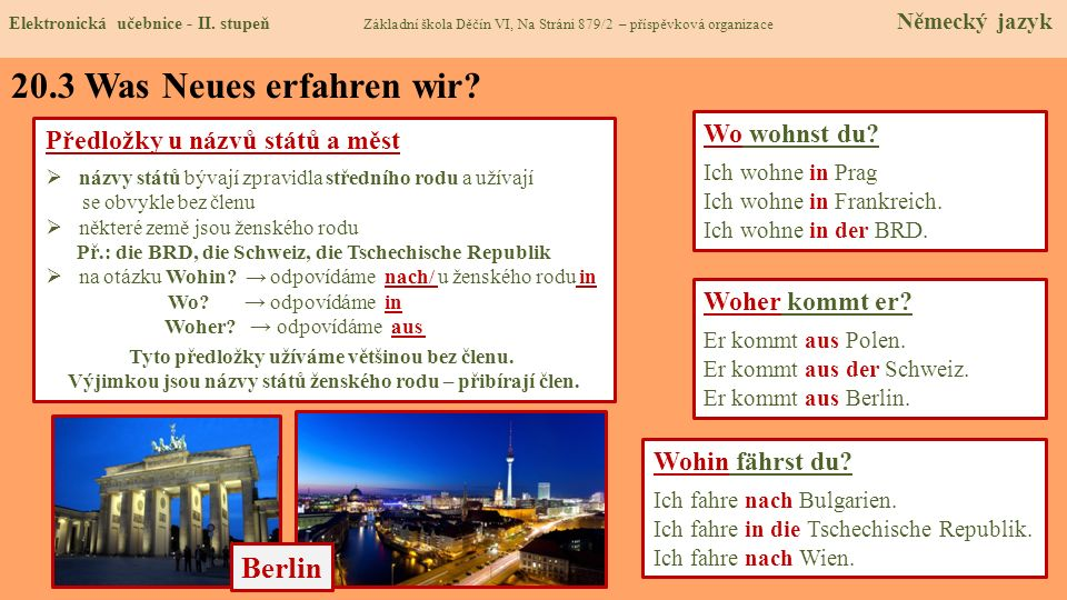 20.3 Was Neues erfahren wir Berlin Wo wohnst du
