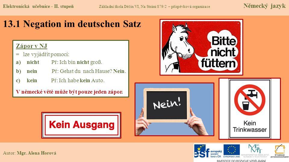 13.1 Negation im deutschen Satz