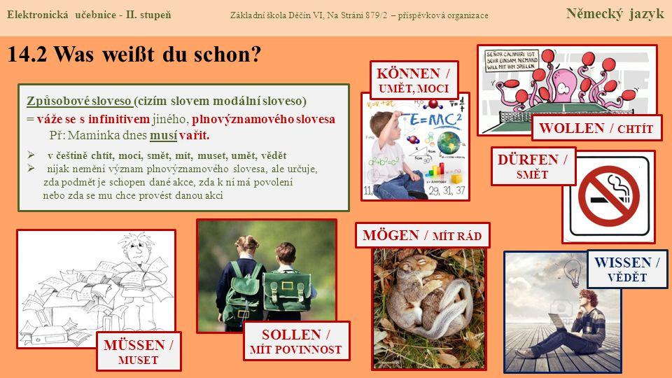 14.2 Was weißt du schon KÖNNEN / WOLLEN / CHTÍT DÜRFEN /