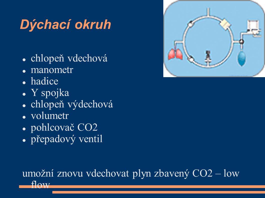 Dýchací okruh chlopeň vdechová manometr hadice Y spojka