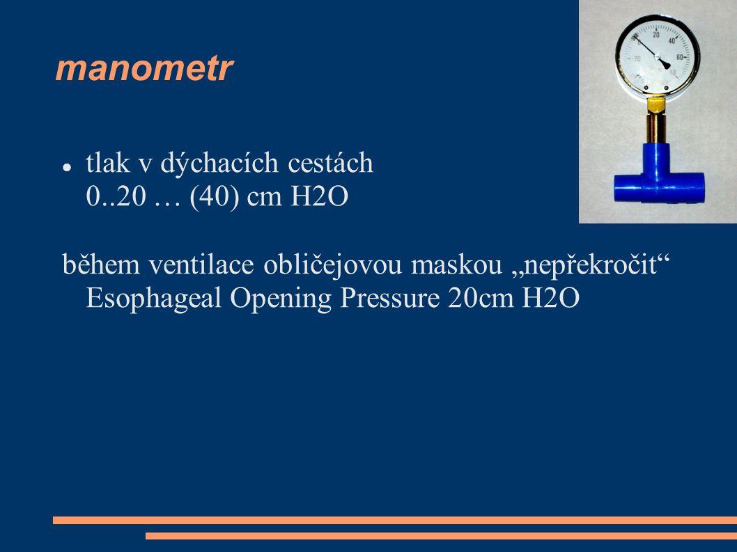 manometr tlak v dýchacích cestách 0..20 … (40) cm H2O