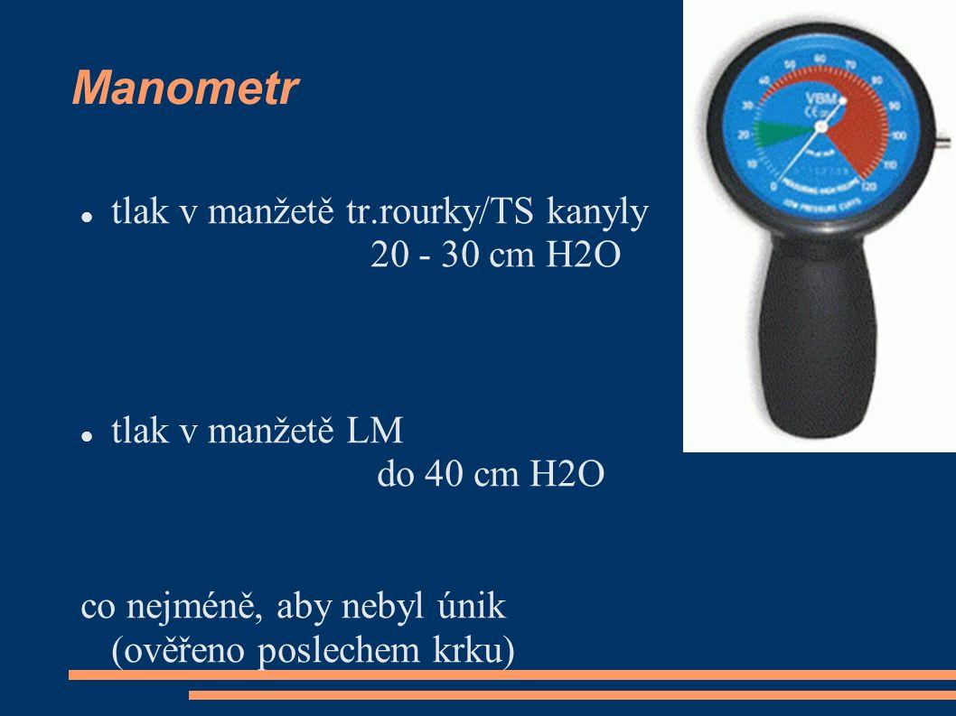 Manometr tlak v manžetě tr.rourky/TS kanyly 20 - 30 cm H2O