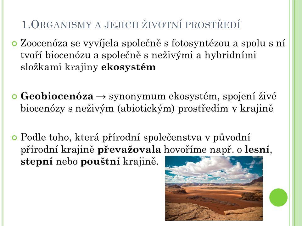 1.Organismy a jejich životní prostředí
