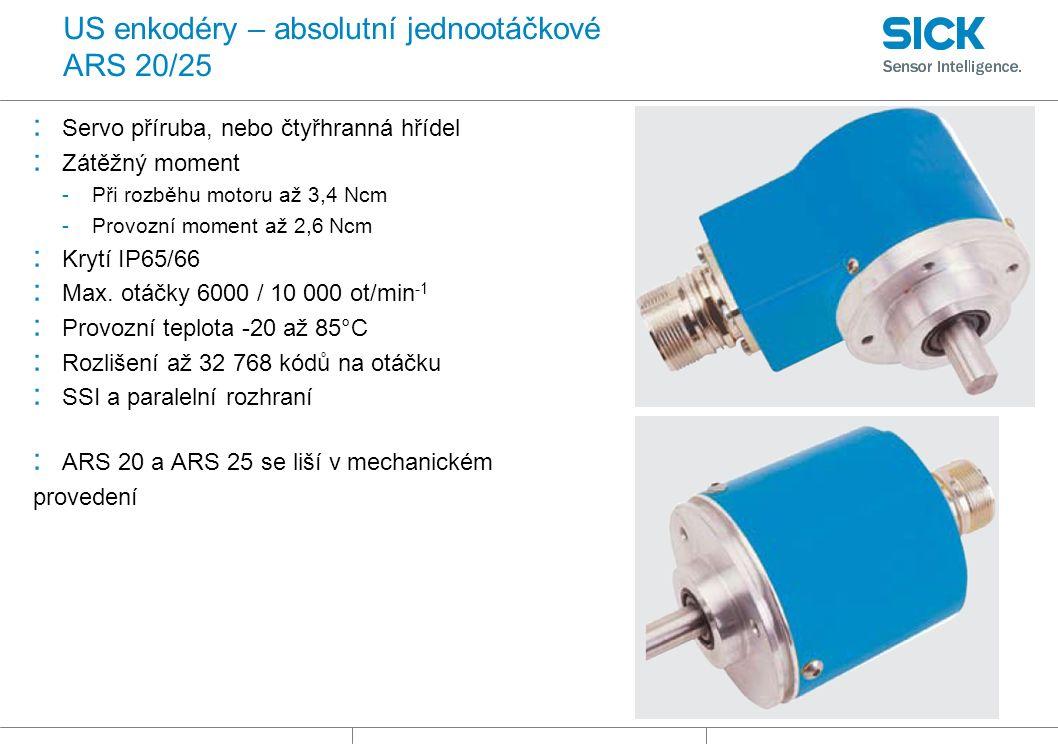 US enkodéry – absolutní jednootáčkové ARS 20/25