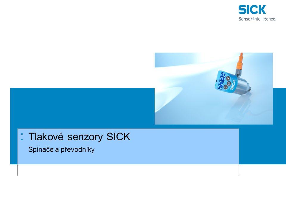 Tlakové senzory SICK Spínače a převodníky
