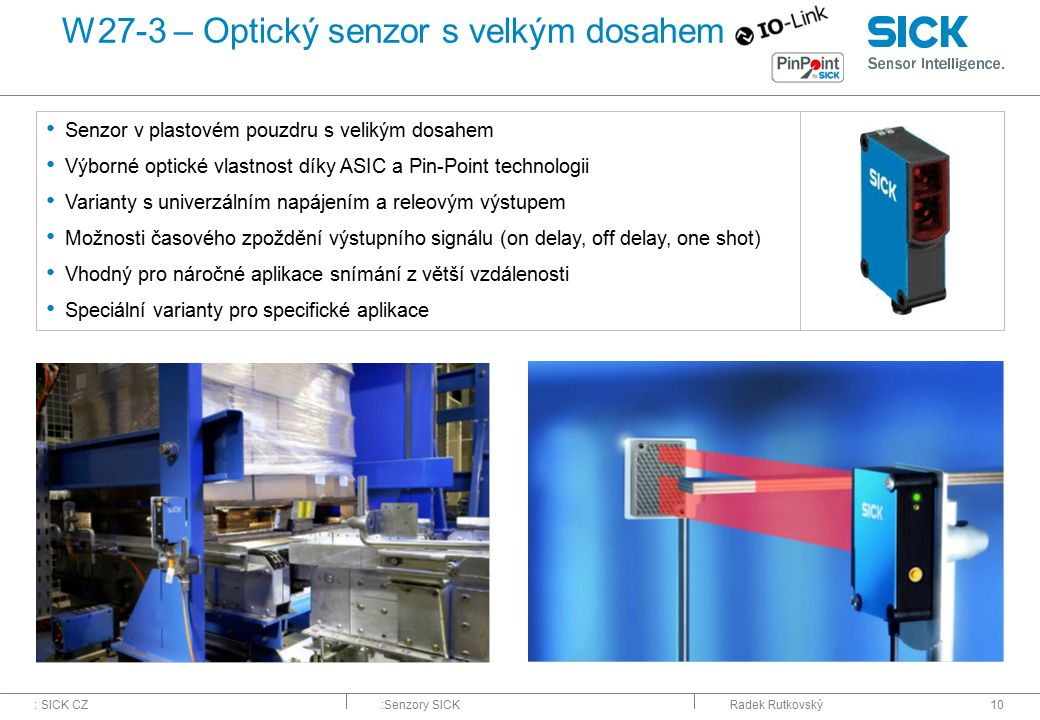 W27-3 – Optický senzor s velkým dosahem