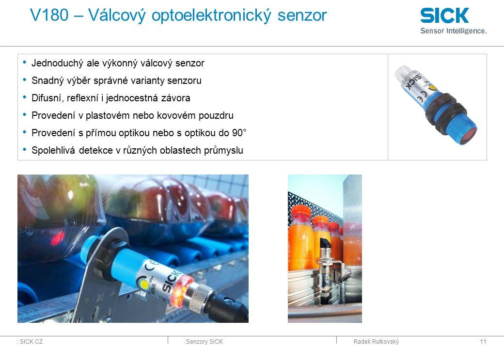 V180 – Válcový optoelektronický senzor
