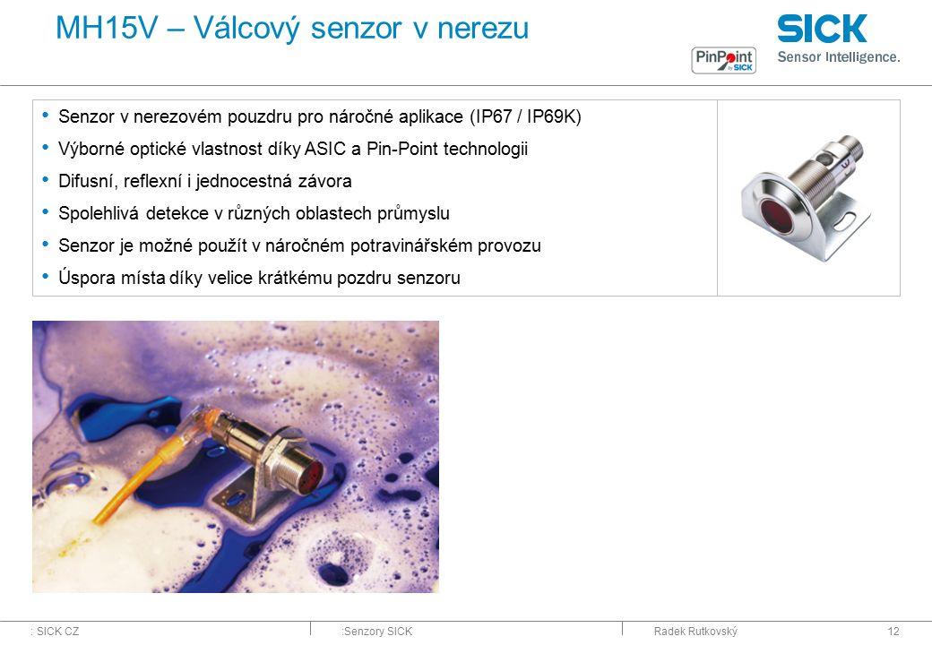 MH15V – Válcový senzor v nerezu