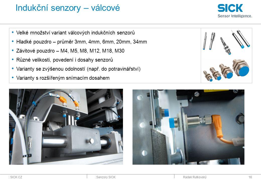 Indukční senzory – válcové