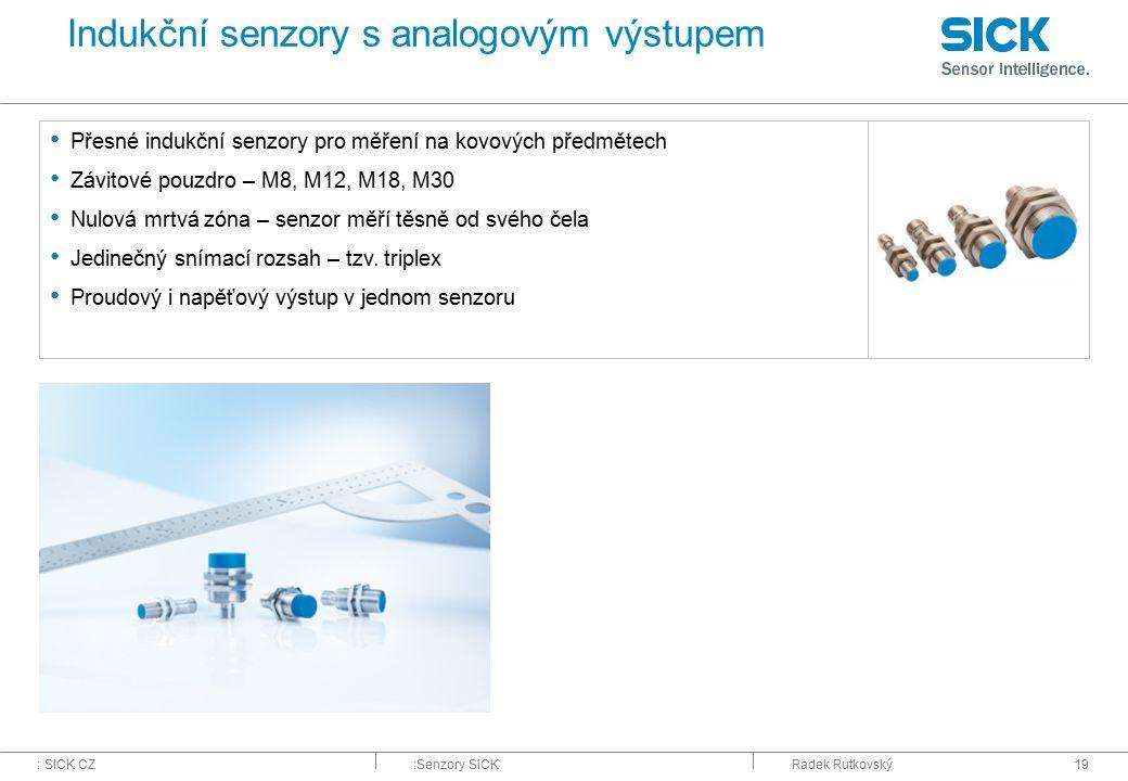 Indukční senzory s analogovým výstupem