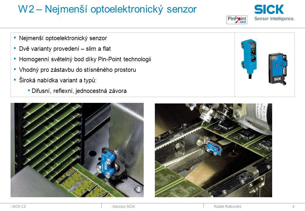 W2 – Nejmenší optoelektronický senzor