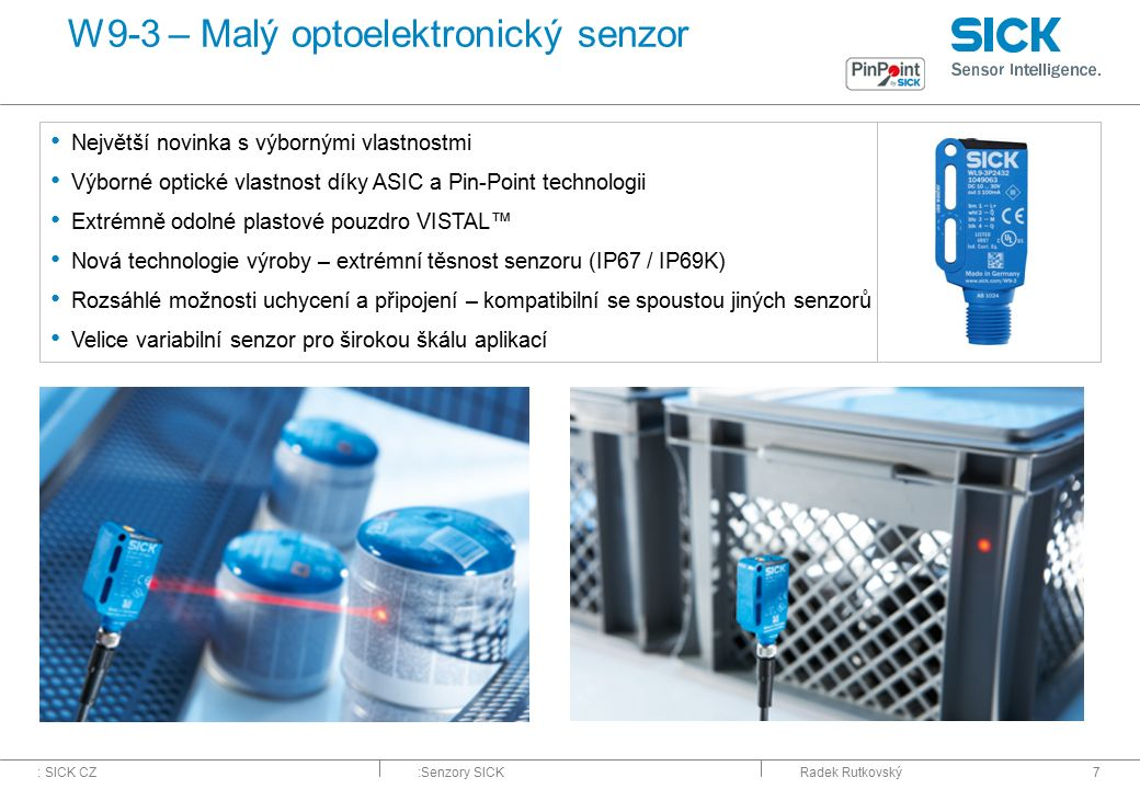 W9-3 – Malý optoelektronický senzor