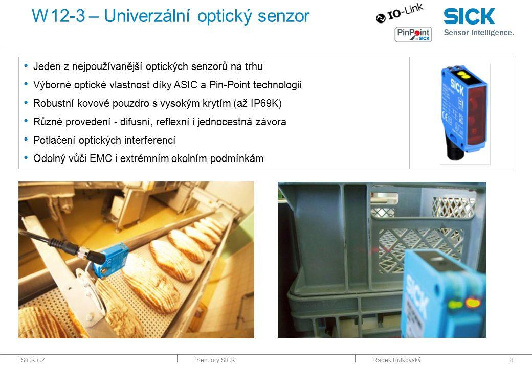 W12-3 – Univerzální optický senzor