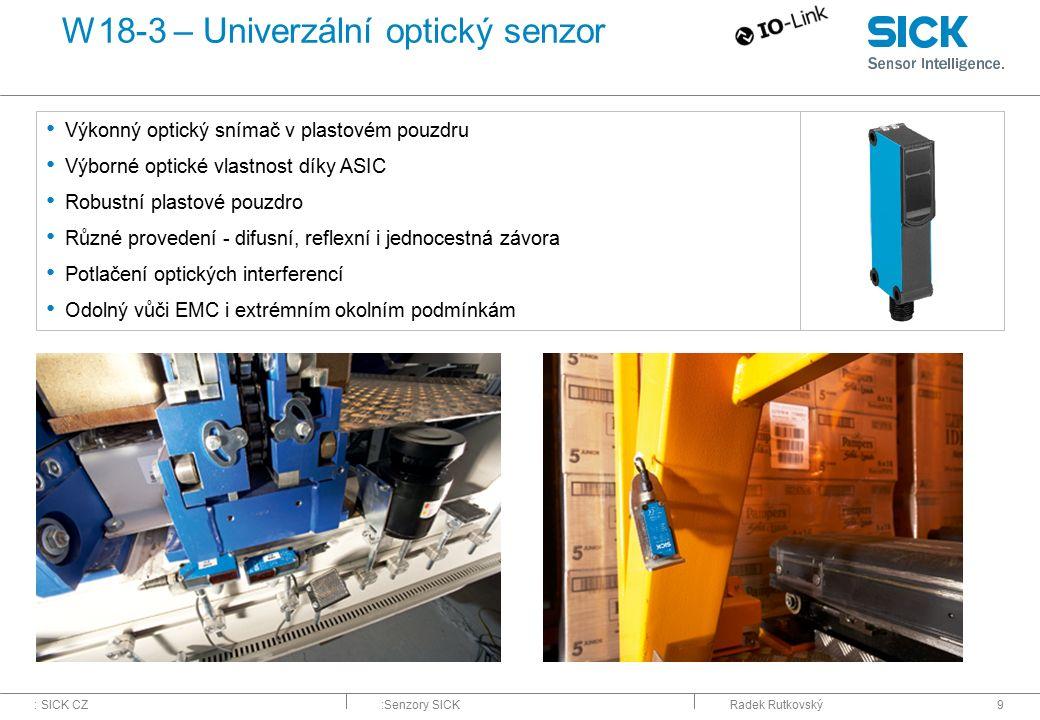 W18-3 – Univerzální optický senzor
