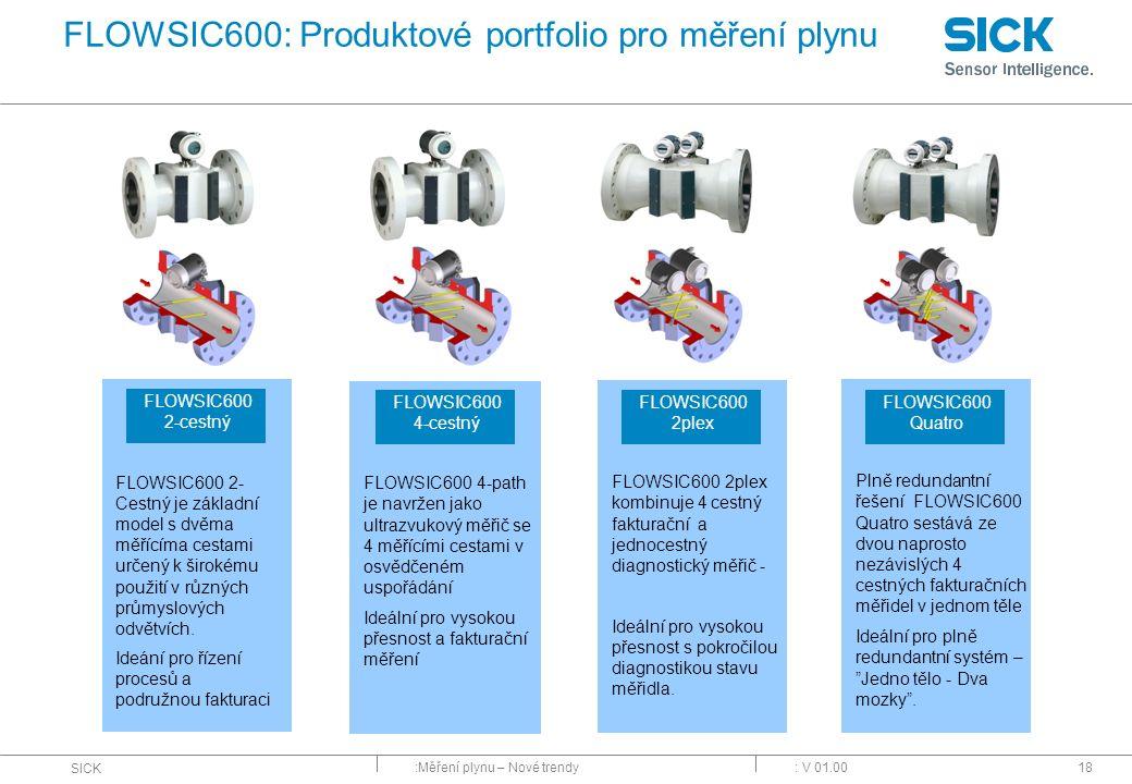 FLOWSIC600: Produktové portfolio pro měření plynu