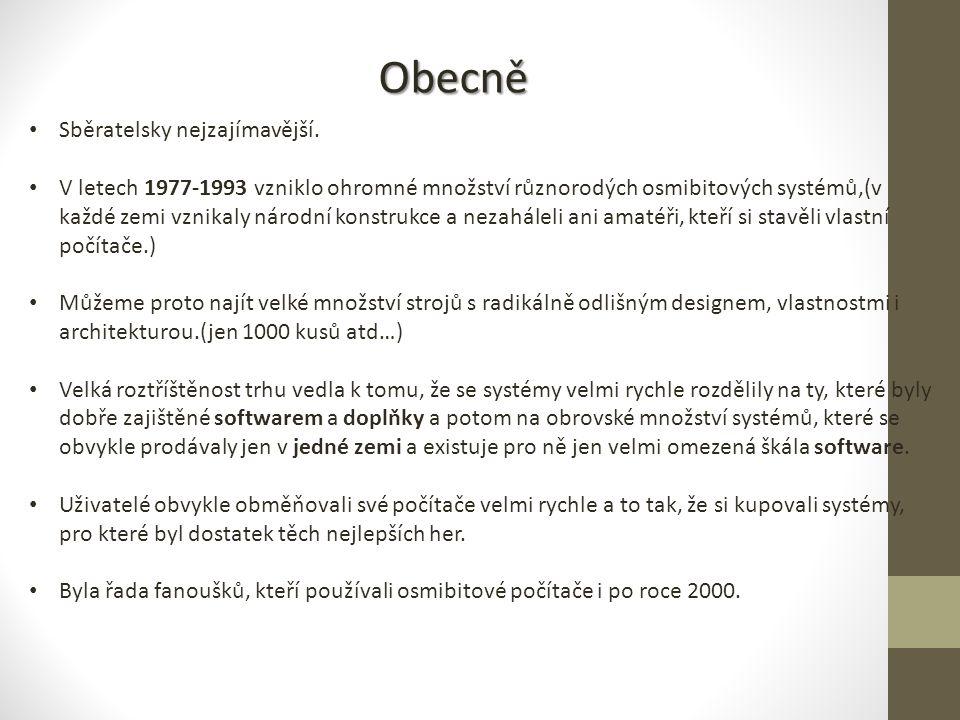 Obecně Sběratelsky nejzajímavější.
