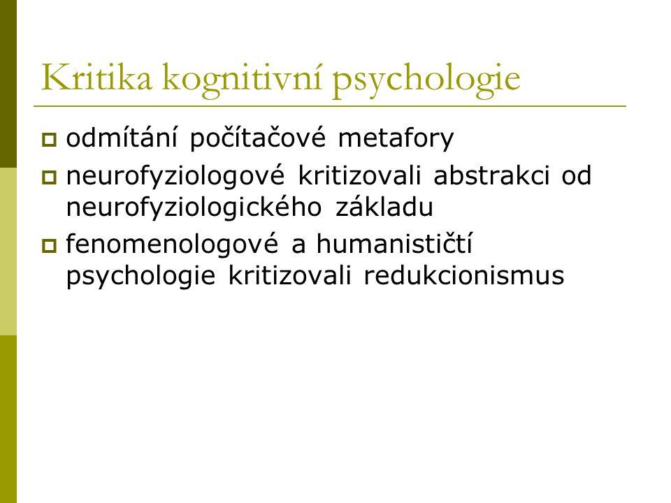 Kritika kognitivní psychologie