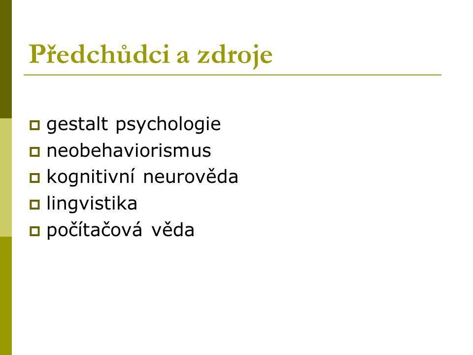Předchůdci a zdroje gestalt psychologie neobehaviorismus