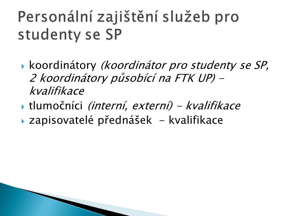 Personální zajištění služeb pro studenty se SP