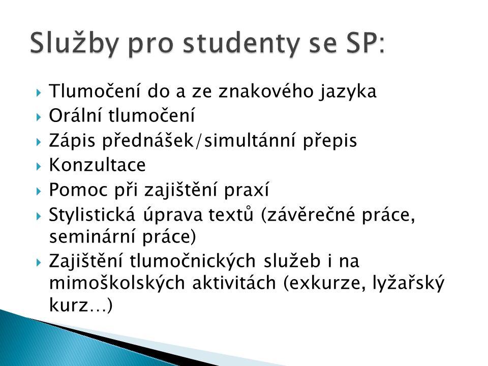 Služby pro studenty se SP: