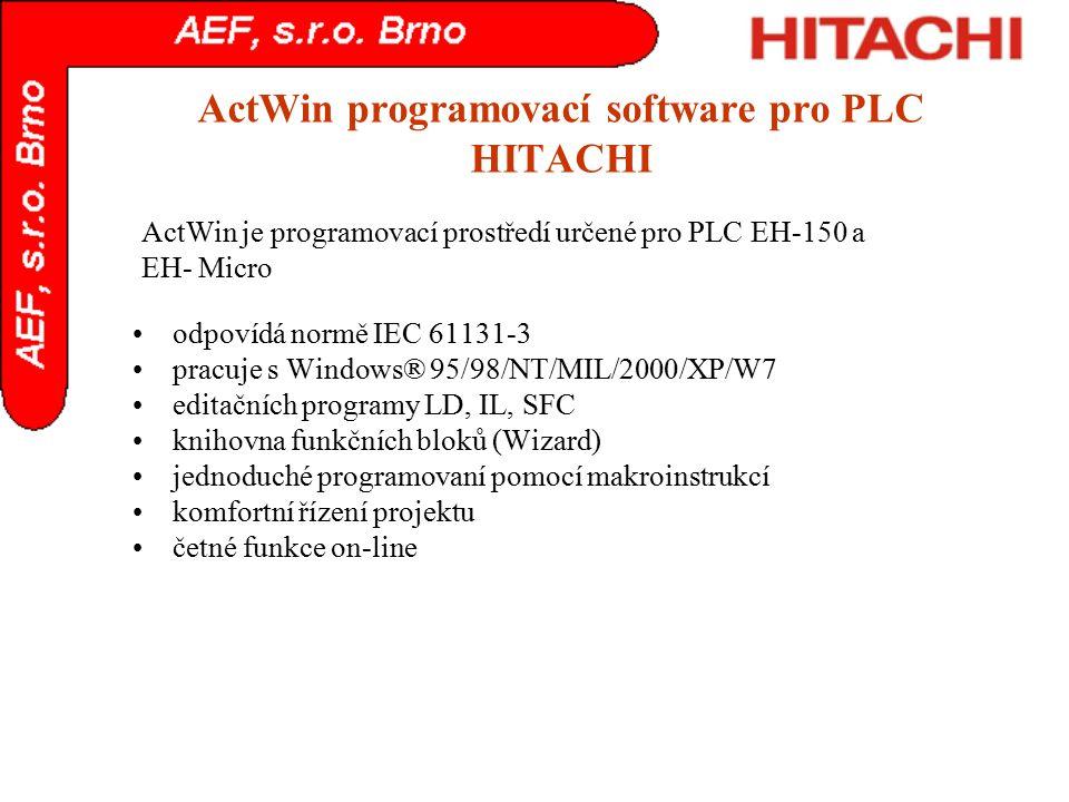 ActWin programovací software pro PLC HITACHI