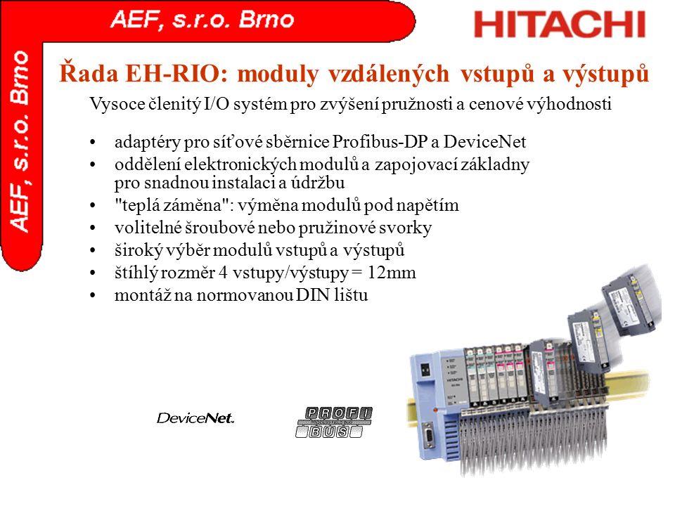 Řada EH-RIO: moduly vzdálených vstupů a výstupů
