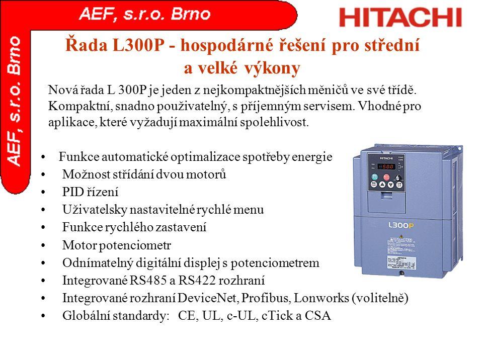 Řada L300P - hospodárné řešení pro střední a velké výkony