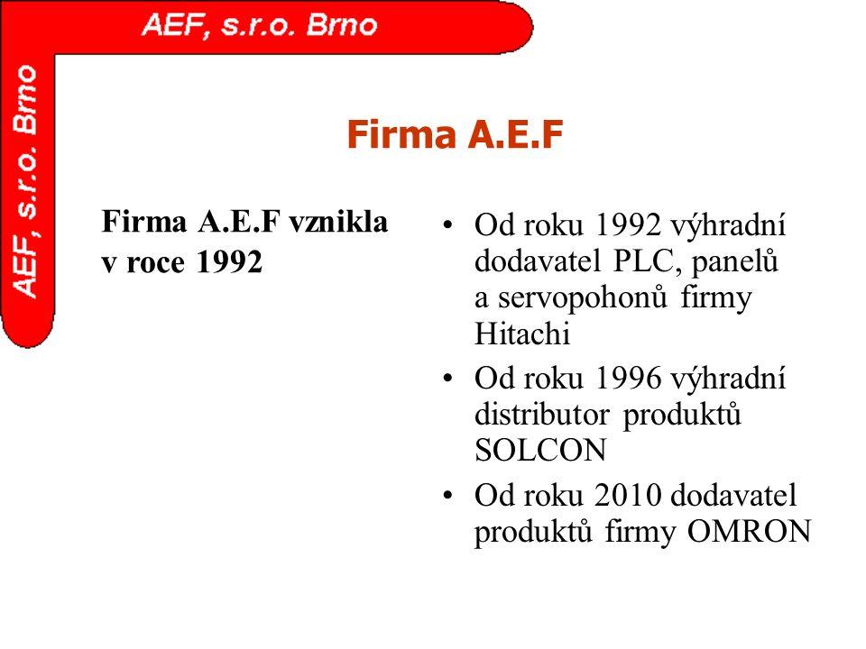 Firma A.E.F Firma A.E.F vznikla v roce 1992