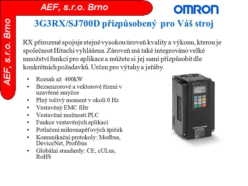 3G3RX/SJ700D přizpůsobený pro Váš stroj