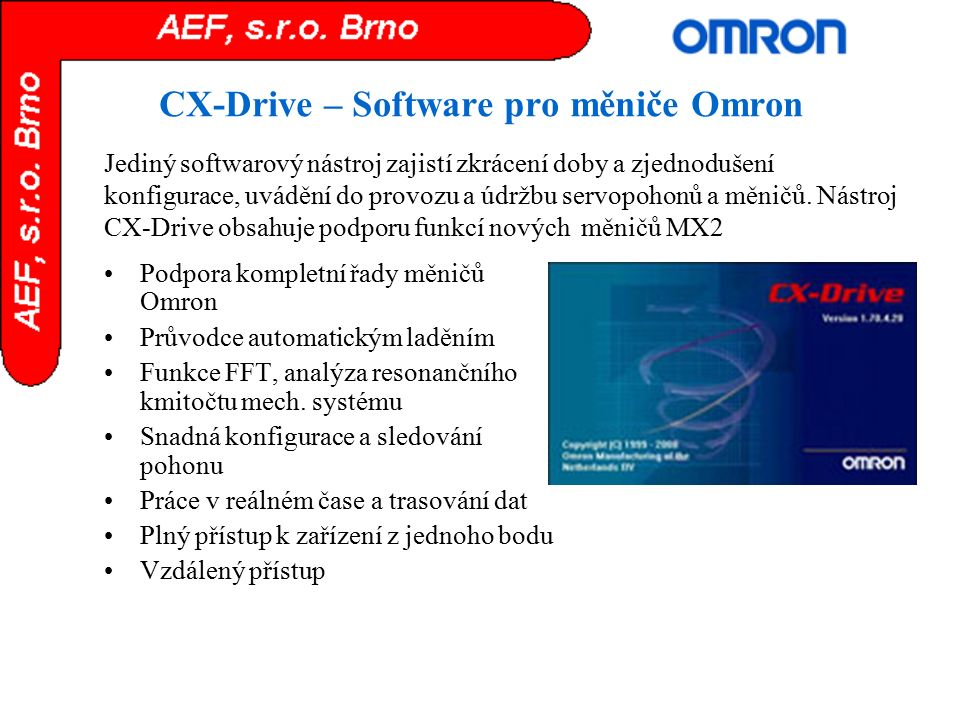 CX-Drive – Software pro měniče Omron