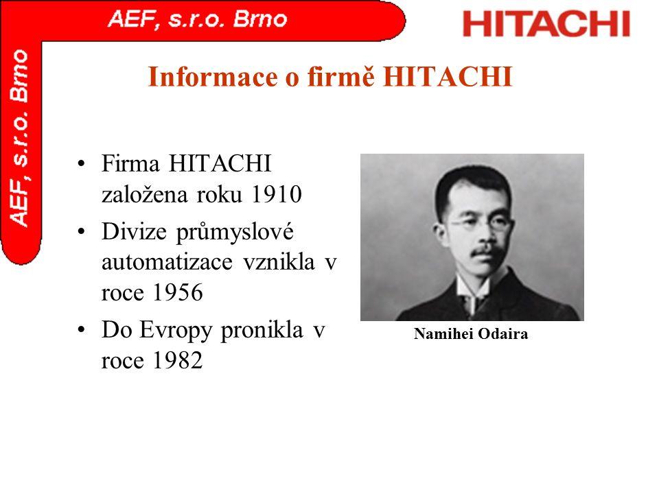 Informace o firmě HITACHI