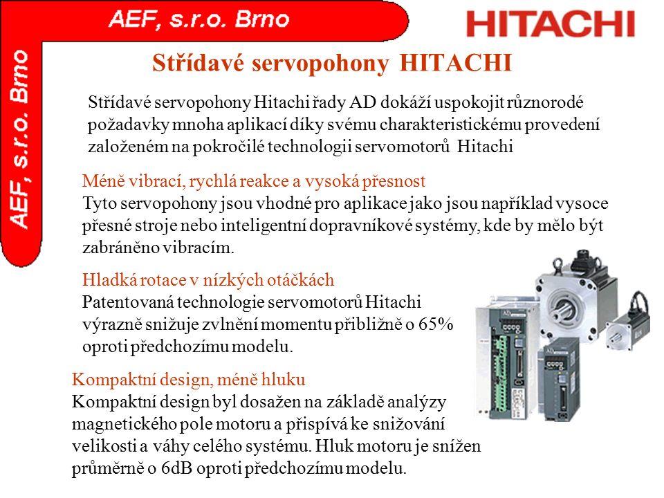 Střídavé servopohony HITACHI