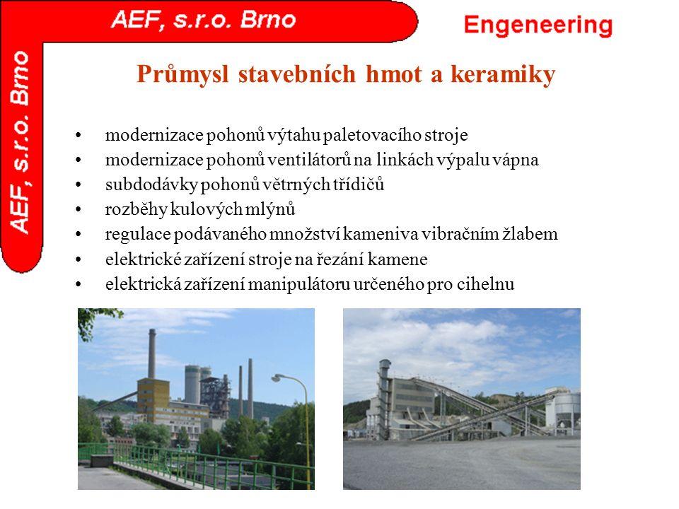 Průmysl stavebních hmot a keramiky