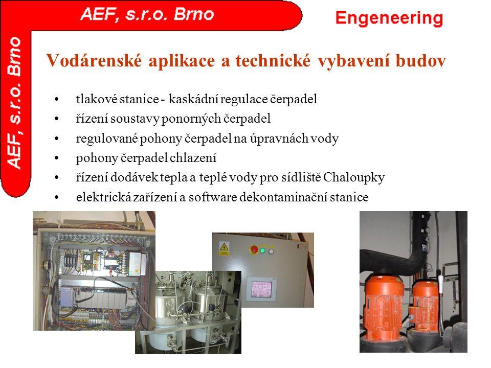 Vodárenské aplikace a technické vybavení budov